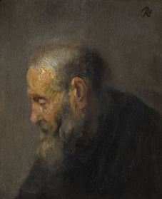 study of an old man by rembrandt