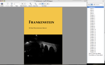 Frankenstein front cover